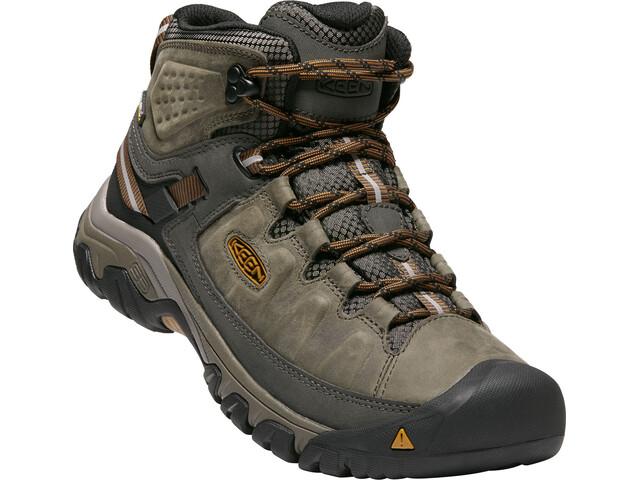 Keen Targhee III Mid WP Shoes Herre black olive/golden brown